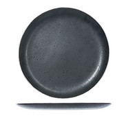CT Casino Dessert plate Black D21cm with Platinum