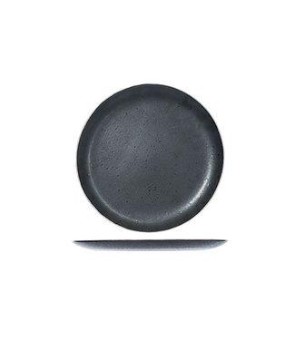 Cosy & Trendy Platos de Postre Casino Negro D21cm Con Platino - Ceramica - (Juego de6)