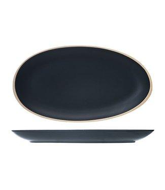 Cosy & Trendy Galloway Black - Schotel - 29.5x16cm - Keramiek - (set van 6).