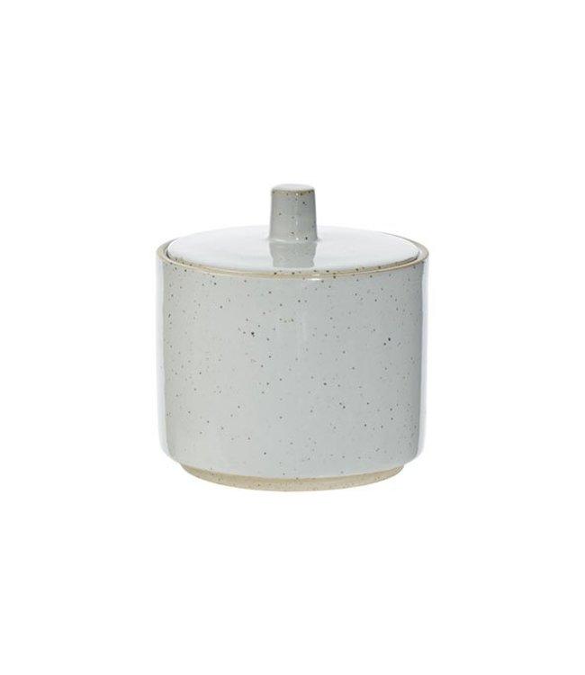 Cosy & Trendy Concrete - Sugar bowl - D8.5xh9cm - with - Lid.