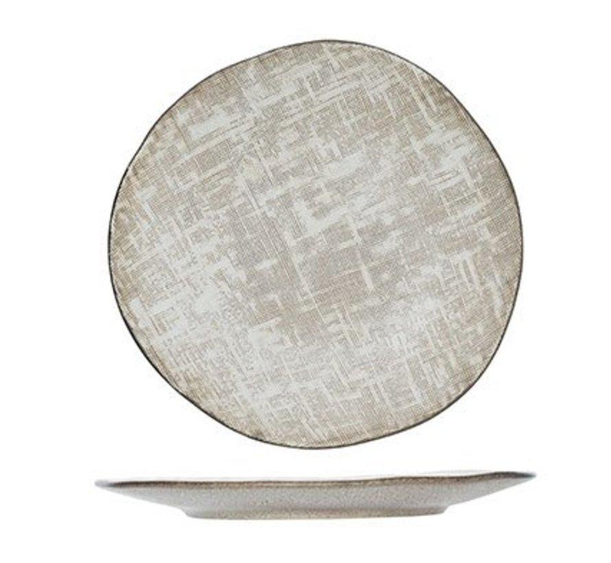 Tattersall Dessertbord Beige D 21cm