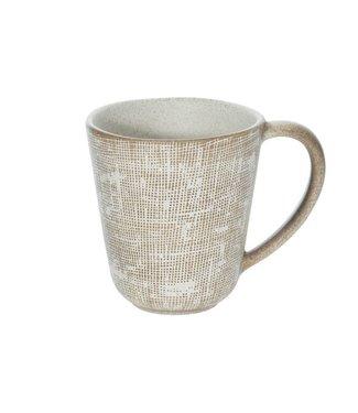 Cosy & Trendy Tattersall - Becher - Beige - T9.5xH10cm - Keramik - (6er-Set).