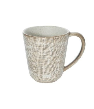 Cosy & Trendy Tattersall Mug Beige D 9.5cm H 10cm
