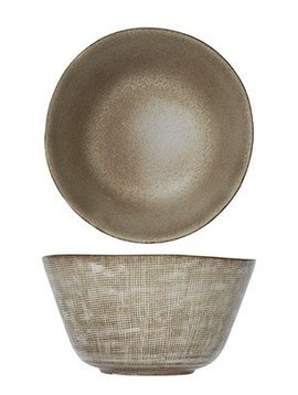 CT Tattersall Breakfast Bowl Beige D15.5cm H8cm