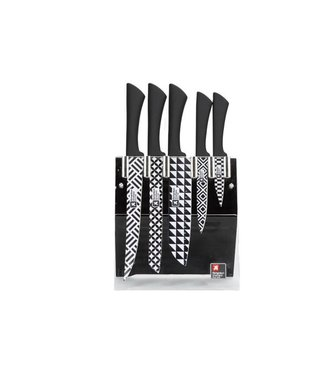 Richardson Sheffield Promo Love Colour Geo Set5 Knives - Block - Giftbox