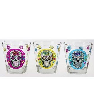 Cerve Mexican Skull Nadia - Glazen - 25cl - (Set van 6)