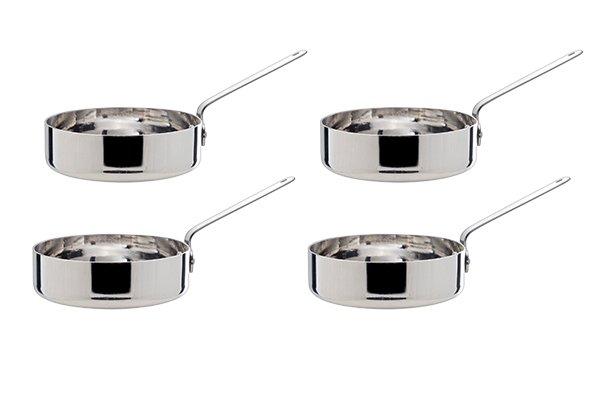 CT Mini Braadpan Set 4 D12cm Roestvrij Staal