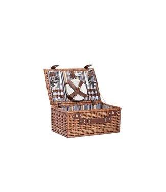 Cosy & Trendy Picnic Basket 4p - Cutlery-plates-glasse-corkscrew-p.s