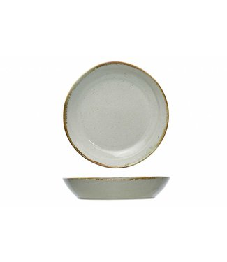 Cosy & Trendy Ivanora Green Deep Plates D22cm - Ceramic - (set of 6)