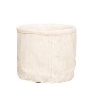 Cosy @ Home Bloempot Creme 13,5x13xh12cm Rond Cement