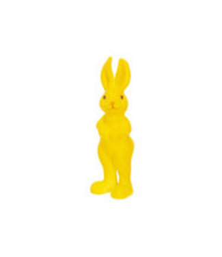 Cosy @ Home Osterhase Flocked Gelb 6x3xh15cm