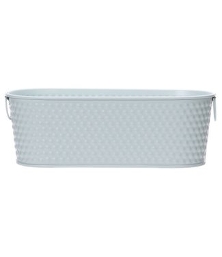 Cosy @ Home Planter Mint 27x24,5xh9,4cm Oval Metal