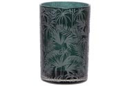 Cosy @ Home Theelichtglas Jungle Donkergroen D12xh18cm