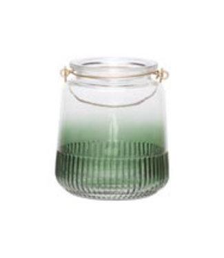 Cosy @ Home Lantaarn Groen D14xh16cm Glas