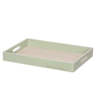 Cosy @ Home Tablett Jungle Grun 35,2x25,3xh4cm Rechteck Holz (6er Set)