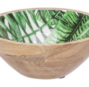Cosy @ Home Bowl Jungle Green 18x18xh7,5cm Oval Wood