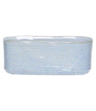 Cosy @ Home Planter Blue Jeans 15x8xh8cm Oval Stoneware