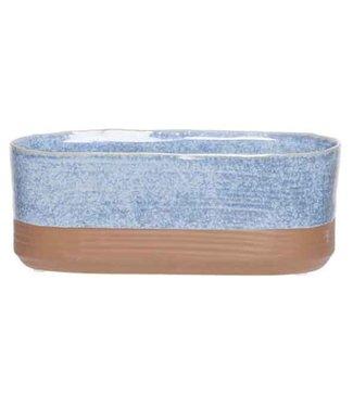 Cosy @ Home Pflanzentopf Duo Jeans Blau 15x8xh8cm Oval Steinzeug