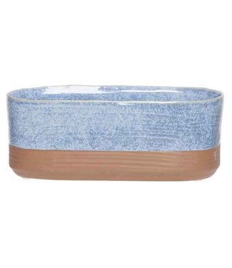 Cosy @ Home Planter Duo Blue Jeans 15x8xh8cm Oval Stoneware