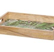 Cosy @ Home Tablett Jungle Grun 40x30xh6cm Rechteckholz