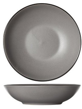 Cosy & Trendy Speckle Grey Deep Platte D20xh5.3cmblack Board S6