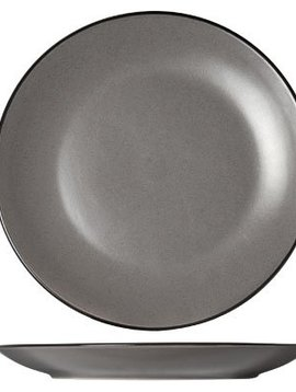 Cosy & Trendy Speckle Grey Plat Bord D27cmzwarte Boord S6