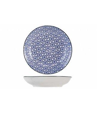 Cosy & Trendy Tavola Blauw Diepe Borden - Porselein - D20.5cm (set van 6)
