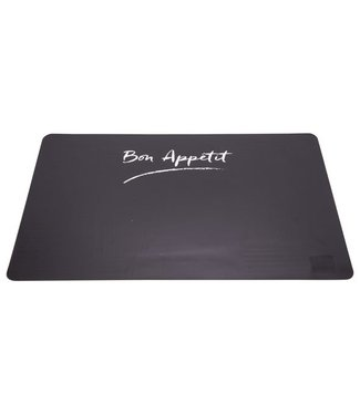 Cosy & Trendy Placemat - Black-Transparent - 43.5x28.5cm - (set of 12)