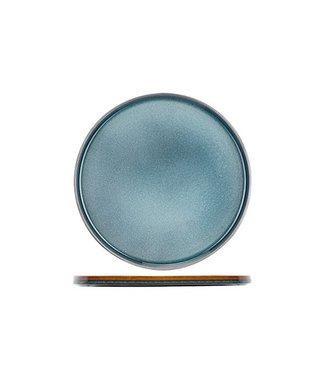 Cosy & Trendy Quintana Blue Plat Bord in Porselein - D32,5cm (set van 6)