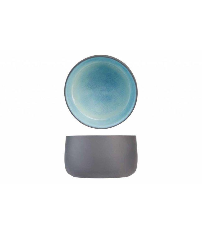 Cosy & Trendy Baikal Blue - Kom - Blauw - D17,5xh10,5cm - Keramiek - (Set van 2)