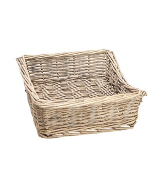 Cosy & Trendy Napkin holder - Natural - 20x20xh8cm - Reed - (set of 2).