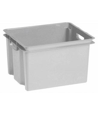 Keter Crownest - Aufbewahrungsbox - 30 Liter - Grau - 42,6 x 36,1 x 26 cm - (6er-Set)