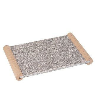 Cosy & Trendy Medical Stone Tray With Wooden Handles30.5x20cm Rectangular