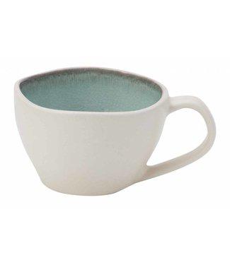 Cosy & Trendy Jacinto-Groen - Koffiekopjes - 17 cl - Porselein - (set van 6)