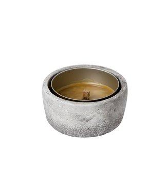 Finnmart Stone Garden Candle D12.5x5.5cm Candleincl - 4-6 Hrs (6er Set)