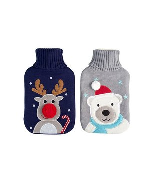 Cosy & Trendy Hot Water Bottle 2l Broidery Cover Ass220x35cm - Ce Norm