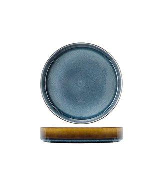 Cosy & Trendy Quintana-Blauw - Diep Bord - D23xh4,3cm - Porselein - (set van 6)-