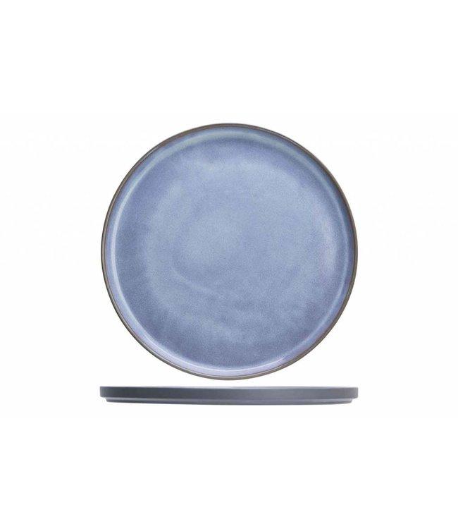 Cosy & Trendy Baikal Blue Plat Bord in Aardewerk - D27,5cm (set van 6)