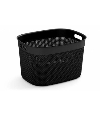 Kis Filo Basket Xl  Black 30l 44x33xh27cm