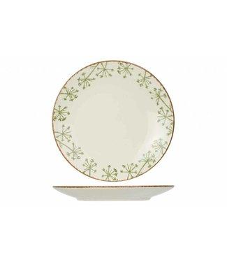 Cosy & Trendy Anis Servies Groen Platte Dinerborden Aardewerk - D26,8cm (set van 6)