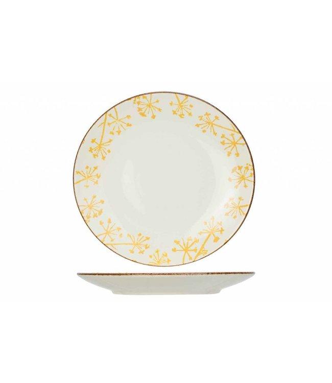 Cosy & Trendy Anis Servies Geel Platte Dinerborden Aardewerk - D26,8cm (set van 6)
