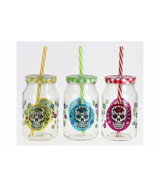 Cerve Cerve Mexican Skull - Cup With Straw - 45cl - (Set of 12)