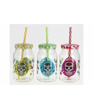 Cerve Cerve Mexican Skull - Tasse mit Stroh - 45cl - (12er Set)