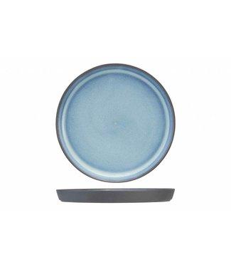Cosy & Trendy Baikal Servies Blauw Platte Dinerborden Aardewerk - D15,5cm (set van 6)