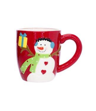 Cosy @ Home Kerstmok Multi-kleur Aardewerk12,9x9,3xh9,3