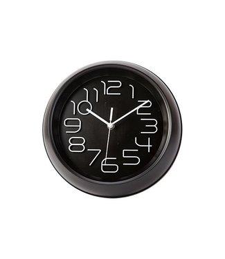 Cosy & Trendy Wall clock - Black - D26xh5.3cm - Plastic.