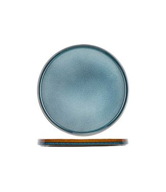 Cosy & Trendy Quintana Servies Blauw Platte Dinerborden Porselein - D27,5cm (set van 6)