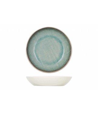 Cosy & Trendy Jacinto - Schaaltje - Groen - D12xh2,5cm - Porselein - (set van 6).
