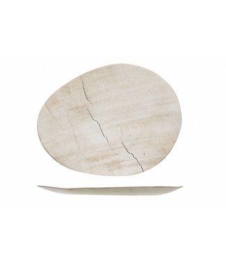 Cosy & Trendy Lithos Dinnerware - Oval Dinner Plates - Ceramic - 37x29xh2cm - (set of 6)