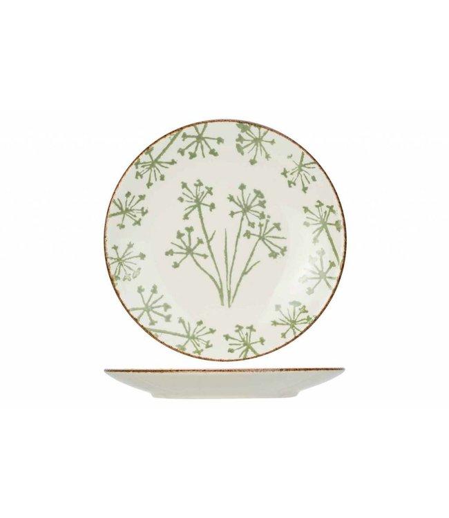 Cosy & Trendy Anis  Groen Dessertborden - Aardewerk - D21,9cm (Set van 6)